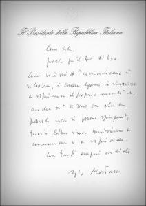 Lettera del Presidente Mattarella